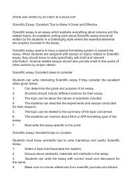 Calaméo Scientific Essay Excellent Tips To Make It Great And