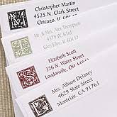 Monogram Return Address Labels Floral Monogram Multipurpose Address Labels Customer Reviews