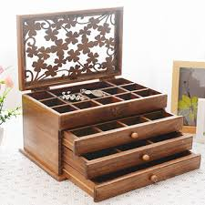 luxury custom jewelry box set multifunctional jewellery airtight bo general solid wooden gift box