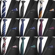 <b>2019</b> New Skinny 6CM <b>Men's Tie</b> Handkerchief Polyester <b>Necktie</b> ...