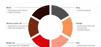 Menstruation Color Chart What Does The Color Of Period Blood Mean Arabia Day