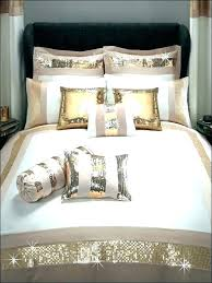 gold and silver bedding master bedroom idea cream color scheme with