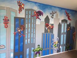 Superhero Bedroom Decor Superhero Mural Canvas Mural Superhero Painting Superhero