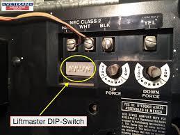 from opening your garage door liftmaster dip switch eight