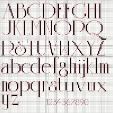 Cross Stitch Alphabet Patterns Simple Cross Stitch Alphabet For Personalized Christmas Ornaments