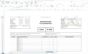 Film Call Sheet Template Call Sheet Template Excel Great Templates