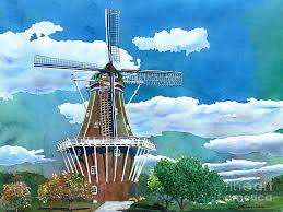 holland painting holland michigan windmill by leanne sowa