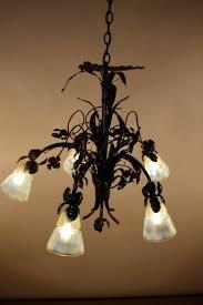 chandeliers art glass chandelier french art bronze and opalescent art glass chandelier bohemian art glass