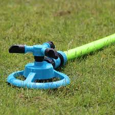 360 lawn circle rotating water sprinkler 3 nozzle garden hose irrigation tool for