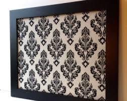 damask office accessories. bulletin board large magnet magnetic framed memo office decor black damask accessories o
