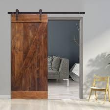z bar solid wood room divider pine slab interior barn door