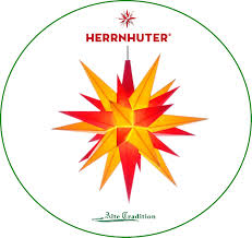 Herrnhuter Stern Rot Gelb Ca 13cm ø Incl Led