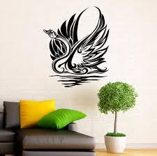 wall art for office. Swan Sticker Waterbird Vinyl Decal Grace Home Wall Interior Design Art Office Murals Lving Room Decor-in Stickers From \u0026 Garden On Aliexpress.com For