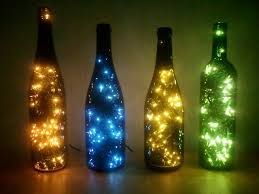 Christmas Lights In Wine Bottle Decoration Surprising Ideas Christmas Lights Wine Bottle Inside In Craft Diy 2