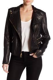 vince camutoasymmetrical zip genuine lamb leather moto jacket