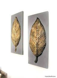 metal leaf wall art metal leaves wall art goodwill find gold leaf wall art leaf wall