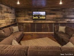 farm house living room rustic basement