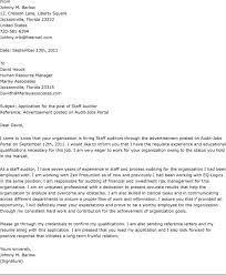 Gallery Of Accounting Auditor Cover Letter