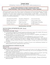 Global Procurement Executive Resume Management Sample Samples Best