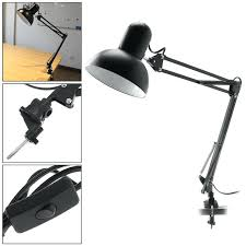 swing arm desk lamp black flexible swing arm desk lamp with lamp head and clamp mount