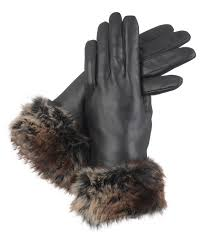 sofia lined leather glove with faux fur cuff chinchilla gift box for women s gloves