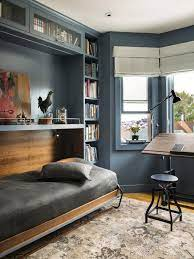 The cabinetry and millwork is custom, stained in grey oak and finished with brushed bras pulls. 16 Multifunctional Guest Bedroom Ideas Room Makeovers To Suit Your Life Hgtv