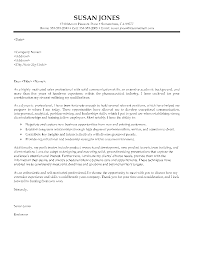 Letter Of Employment Sample. Cover Letter Pharmaceutical Sales ...