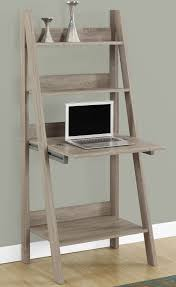 features ladder style shelves closed storage drops down to create work area ideal for laptops convenient for small spaces