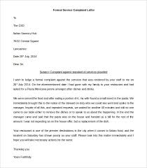 complaint letter word pdf documents   formal service complaint letter in ms word