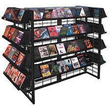Dvd Display Stands Delectable DVD Display Wire Island Floor Stand Display With 32 Shelves