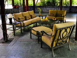 high end patio furniture. luxury patio furniture with a old world style is available in the madrid set from high end