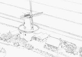 Hollandse Molen Kleurplaat Sommige List Of Pinterest Molen Pictures