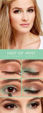 easy 10 minute makeup ideas for work hint of mint eye shadow tutorial simple
