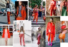 warm reds cs and bright pops are taking the street style scene by storm selena in glowing vintage washed down summer pops of colour in our favourite