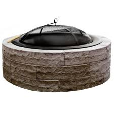 Block Fire Pit Kit Outdoor Living Kits Landscaping The Home Depot