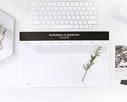 desk pad calendar on desk. Exellent Pad So Chic Desktop Weekly Planner Pad Undated Calendar Desk Organizer  Schedule Agenda To Do List On