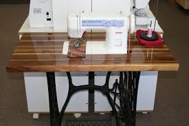 Treadle Sewing Machine Cabinet Our Custom Janome 712t Table Temecula Valley Sewing Center
