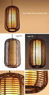 Living Room Pendant Lighting Southeast Asia Handmade Rattan Restaurant Ceiling Pendant Light