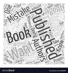 Getting A Book Published Common Mistakes You Want Vector Image