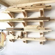 diy garage lumber rack how to build it