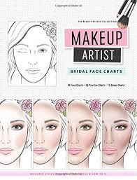 Makeup Charts Free Amazon Com Makeup Artist Bridal Face Charts The Beauty