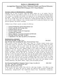 Registered Nurse Resume Gallery One Pacu Resume Forms Of Resume Sample