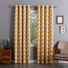 yellow chevron curtain as your decoration choice innonpender com beautiful house designs