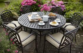 berkeley cast aluminium 6 seater round garden dining set