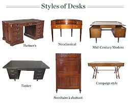 This is a type of desk topped by a hinged desktop surface, which is in