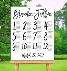 How To Make A Seating Chart Poster 005 Template Ideas Alphabetical Wedding Seating Chart Poster
