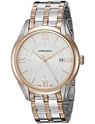 amazon co uk versace watches versace men s apollo swiss quartz stainless steel casual watch color two tone model v10080015