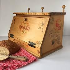 wooden antique bread box