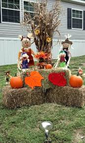 outdoor fall decorations outside fall decor corn stalks hay fodder shock outdoor fall decorating projects