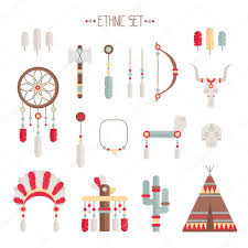 What Native American Tribes Use Dream Catchers Vector colorful ethnic set with dream catcher feathers arrows 88